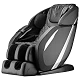 Zero Gravity Full Body Electric Shiatsu Massage Chair Recliner with Built-in Heat Therapy Foot Roller Airbag Massage System SL-Track Stretch Vibrating Audio for Home Office,Black