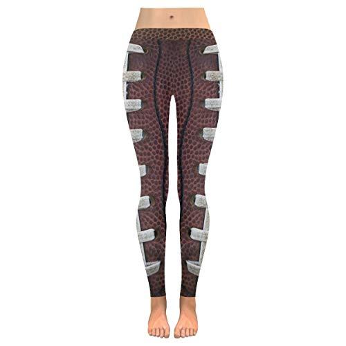 QUEMIN Pantalones de Yoga para Mujeres, Pantalones Pitillo elásticos Personalizados de Encaje de fútbol Americano Capri para Yoga, Pilates, Gimnasio M