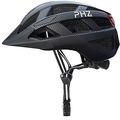 Casco de bicicleta para adulto PHZING con certificado CPSC casco de bicicleta para hombres y mujeres ciclismo de carretera y bicicleta de montaña con visera desmontable Adulto Negro