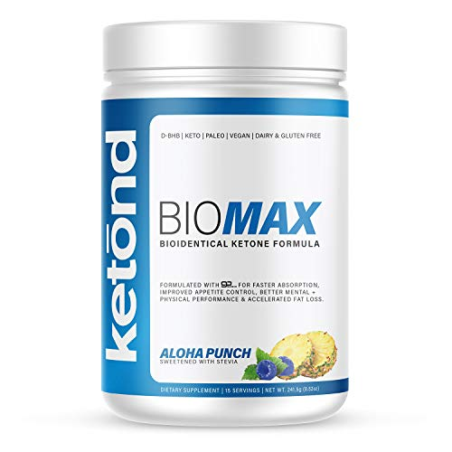 Ketond BioMax — Bioidentical Ketone Supplement — High-Performance Supplement with goBHB-D — Caramel Macchiato (20 Servings)