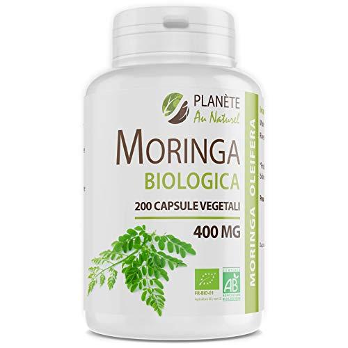 Moringa Oleifera Biologica - 400mg - 200 capsule vegetali