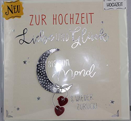 Sheepworld, Gruss und Co. - 90627 - Klappkarte, Knopfkarte, mit Umschlag, Nr. 30, Zur Hochzeit Liebe und Glück