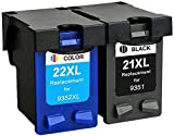 XIMI Remanufactured HP 21 22 Cartuchos de Tinta Compatible con HP PSC 1410, HP Deskjet F2280 F4180 D2460 F2180 F380 D2360 3940 (1 Negro, 1 Tricolor)