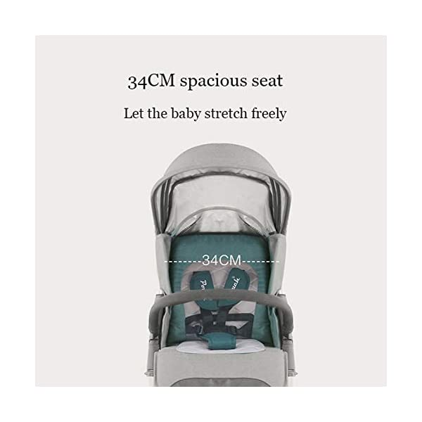 JXCC Baby Stroller Can Sit Reclining Simple Mini Aluminum alloy Stroller Folding Four Seasons Portable Shock absorber from 0-36 months,6.8kg,Multi-color optional -Safe And Stylish Blue JXCC 1. {Multi-angle adjustable}: You can sit down and adjust the angle from 0 to 180 degrees, suitable for all occasions. 2. {Easy to clean}: Remove the button for easy cleaning and detachable seat cushion 3. {Vibration}: two-wheel parallel connection, stable shock absorption, double front wheel suspension, two-wheel brake 6