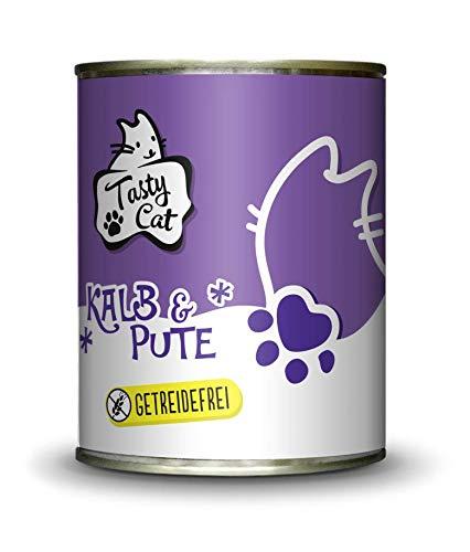 Tasty Cat Nassfutter für Katzen Kalb & Pute 800g. | getreidefrei | zuckerfrei