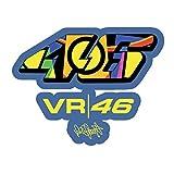 Pegatinas reflectantes para casco de moto Valentino Rossi VR46...