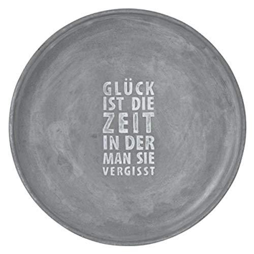 Räder - ZUHAUSE - Beton Schale Glück ist die Zeit. Ø 35 cm Höhe 3,6 cm
