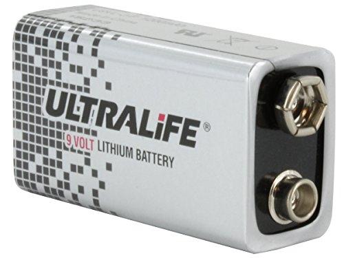 10x Ultralife Lithium Batterie 9 Volt, E-Block, U9VL, U9VL-J 1200mAh (Spar Set) 10er Set