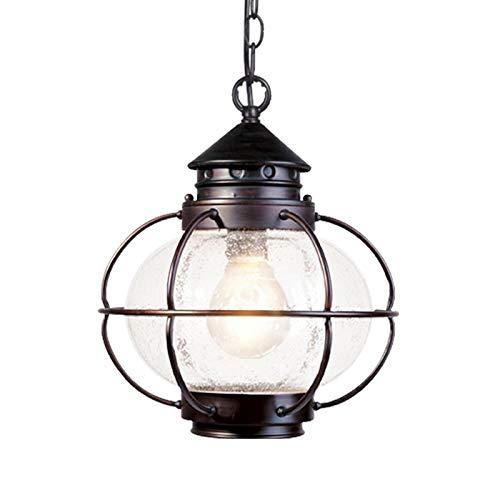Zenghh Ascensor larga pendiente de la luz de la linterna al aire libre de interior caliente creativo retro de la lámpara/White Home bulbo fuente de alimentación no Solar Industrial Pergola externo c