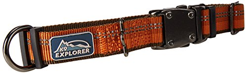 Coastal Pet Products DCP36922COG K9 Explorer 1-Inch Dog Collar, Medium, Orange