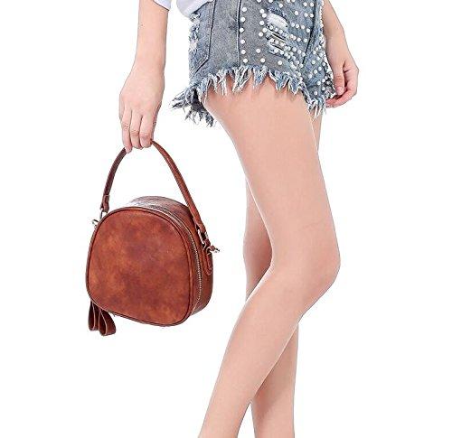 MDRW-dames tas dames schoudertas met eenvoudige schouder eenvoudige sfeer rits tas