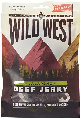 Wild West Jalapeno Beef Jerky Box of 12 x 70 Grams