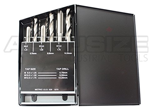 Accusize Industrial Tools 18 Pc Hss Tap and Drill Set, Metric, 0001-0052