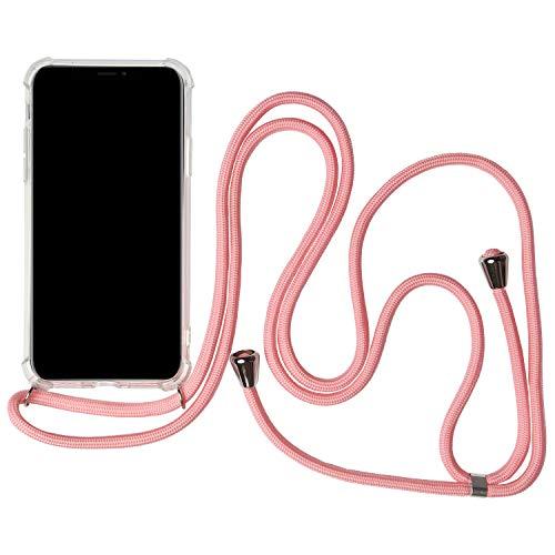 United Case shell met ketting band voor Samsung Galaxy S9 / S9+ Plus | mobiele telefoon beschermhoes met, Samsung Galaxy S9, roze