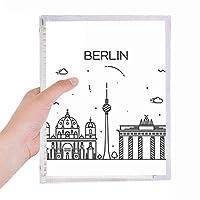 ドイツベルリン建造物 硬質プラスチックルーズリーフノートノート