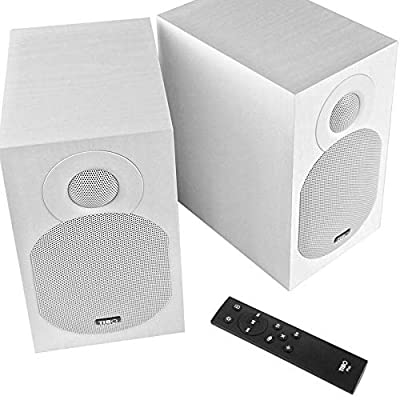 Tibo Plus 3.1 | Active HiFi Bookshelf Bluetooth Speakers with Remote Control | RCA/Optical inputs | 2 x 55W | WHITE by TIBO