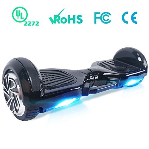 """BEBK Hoverboard 6.5"""" Self Balance Scooter Elettrico, Hover Board con LED, Overboard con Certificazione UL 2272, 2 * 250W Motore"""