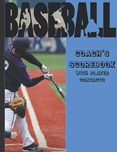 Baseball Coach's Scorebook With Player Contacts