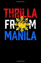 "Thrilla From Manila: Filipino Notebook | Tagalog Pride More Fun In The Philippines Proud To Be Pinoy Food Journal Mini Notepad (6""X9"")"