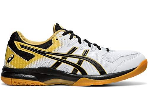 ASICS Men's Gel-Rocket 9 Volleyball Shoes, 10M, White/Black