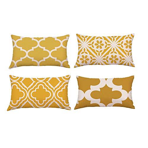 Sencillo Vida Funda Cojin, Cojines Decoraciondel Hogar para Salón, Dormitorio, Oficina, Cama o Coche Pillow Case Sofa Cushion, (30 x 50cm) (B)