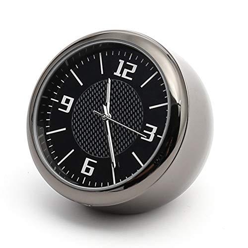 Auto-Uhr mit Lüftungsschlitz, analog, Quarzuhrwerk, universell, rund, Quarz-Uhrwerk, leuchtende Nadel, Auto-Uhr, hohe Genauigkeit, integrierte Quarzuhr, perfekte Auto-Dekoration
