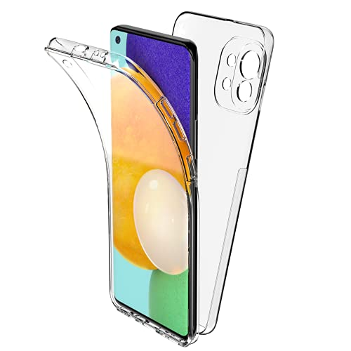 Oududianzi Funda Compatible con Xiaomi Mi 11 5G, 360 Grados Protección Diseñada, TPU Frente y PC Back - Transparente