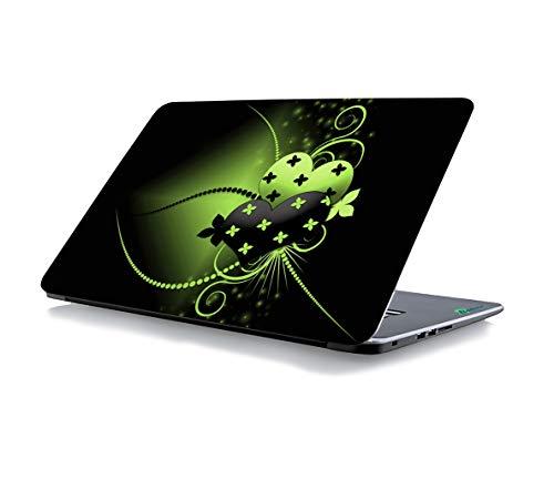 RADANYA Grüne Herz Laptop Skin Aufkleber Passt Für Alle Modelle Für Bildschirmgrößen - 15 X 10 Zoll