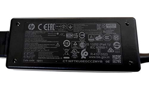 Set Original HP Netzteil, 19.5V, 2.31A 45W als Ersatz für 741727, HSTNN-CA40, 721092, 719309, 696694, 696607 mit Stecker 4.5x3mm sowie 7.4x5mm (Adapterkabel) & kimalaya Netzkabel/Stromkabel 1,8m
