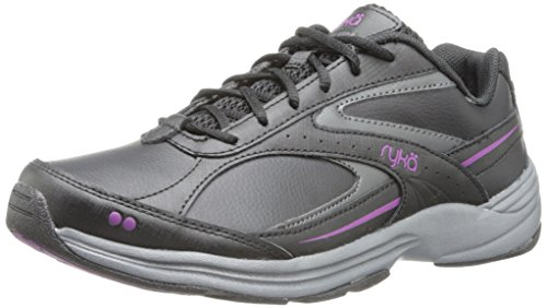 Ryka Women's Sport Walker 6, Black/Iron Grey/Spellbound Purple, 9 W US