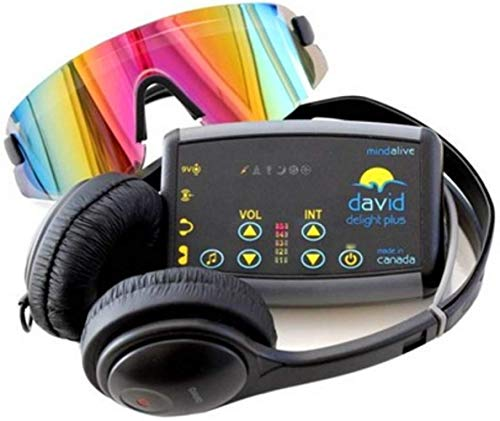 David Delight Plus with Viewhole Eyeset by Mind Alive - Best Light and Sound Mind Machine for Brain Training, Meditation, Relaxation, Sleep, Mood, Mental Clarity.