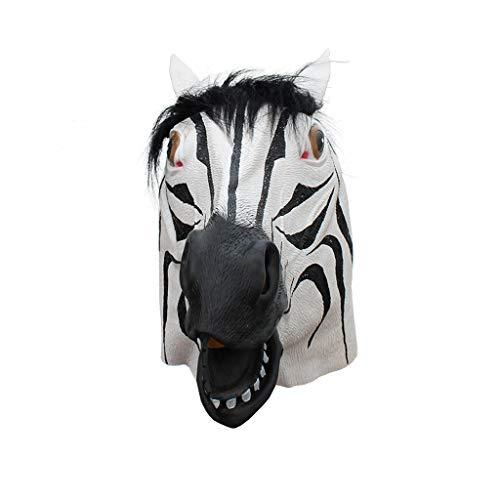 JGBHPNYX dier Zebra latex masker vakantie partij halloween
