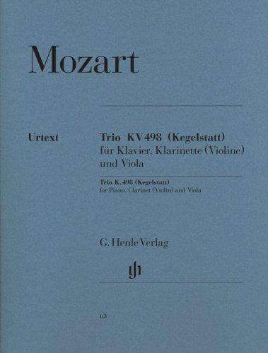 Trio Es-dur KV 498 (Kegelstatt) für Klavier, Klarinette (
