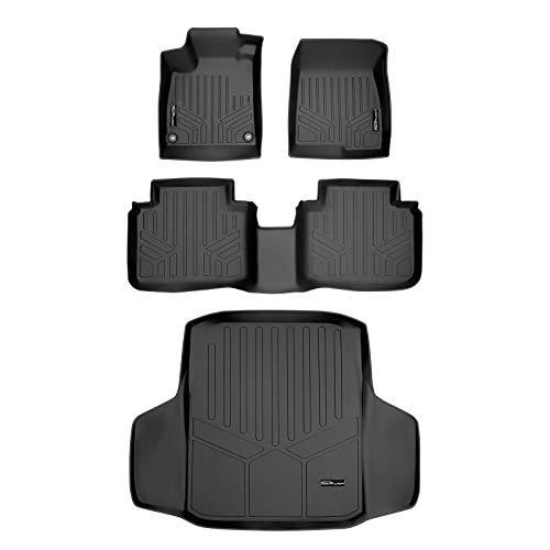 MAXLINER Floor Mats 2 Rows and Cargo Liner Set Black for 2018-2020 Honda Accord - All Models