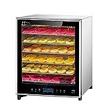 Máquina de conservación de alimentos, Deshidratador de alimentos, comercial Regulación de temperatura ajustable grande Bandeja de acero inoxidable de 6 capas para frutas y verduras Frijol soluble en c