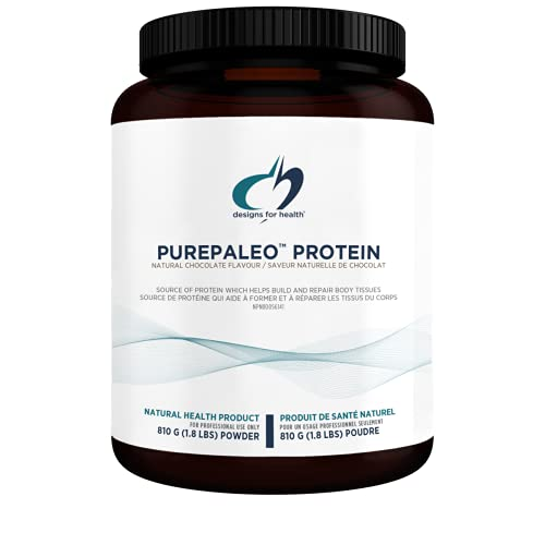 Designs for Health PurePaleo Collagen Protein Powder - 21g HydroBEEF Bone Broth Protein Supplement with Collagen Peptides + BCAAs - Chocolate, Non-GMO, Dairy-Free + Gluten-Free (30 Servings / 810g)