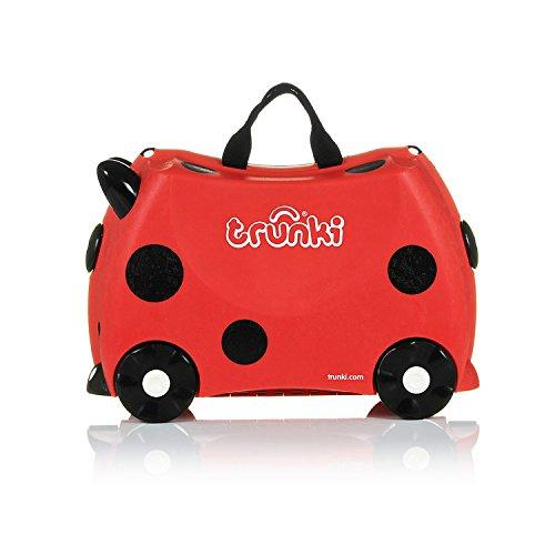 Trunki Trolley Kinderkoffer, Handgepäck für Kinder: Harley Marienkäfer (Rot) - 6