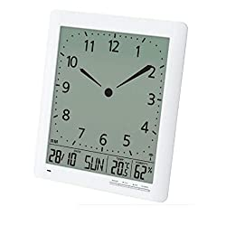 Britta Products Franklin CL-1 Large Format 10 Atomic Digital-Analog Wall Clock with Day/Date, Temperature and Humidity