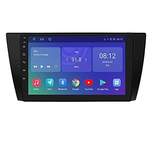 Autoradio Ossuret Android 10 OS Con Schermo da 9 pollici Adatto per BMW Serie 3 E90 / 91/92/93 2006-2012, supporto di Navigazione GPS Controllo Del Volante Bluetooth USB WIFI 4G