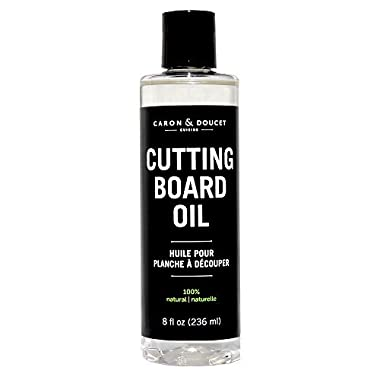 Caron & Doucet - Coconut Cutting Board Oil & Butcher Block Oil - 100% Plant Based, Made From Refined Coconut Oil, Does Not Contain Petroleum (Mineral Oil). (8oz Plastic)