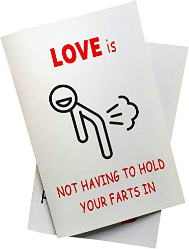 Quadow Love Is Not Having to Hold Your Farts in Anniversary Card, Birthday Card