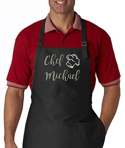 Mens Apron Women Apron Bakers Apron Housewarming Gift Custom Name Embroidered Apron Custom Kitchen Apron Personalized Apron Chef Apron