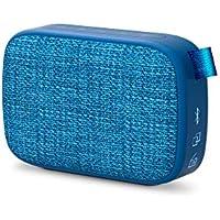 Energy Fabric Box 1+ Pocket Blueberry - Altavoz Portátil (TWS, Bluetooth V5.0, 3W, USB&Microsd Mp3, FM Radio, Audio-In), Color Azul, 118 X 78 X 39 mm