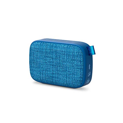 Energy Sistem Fabric Box 1+ Pocket Blueberry Altavoz portátil con Bluetooth (TWS, Bluetooth v5.0, 3W, USB&microSD MP3 Player, FM Radio) Azul