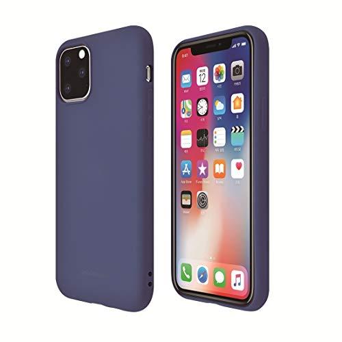 WEIHONG Caso for el iPhone 11 de la Caja Protectora a Prueba de Golpes Pro Color sólido del Gel de Silicona (Gris) (Color : Blue)