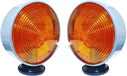 Bajato Paire d'éclairage de sécurité et d'avertissement pour tracteurs Massey Ferguson et Autres 12V Ambre 11000607
