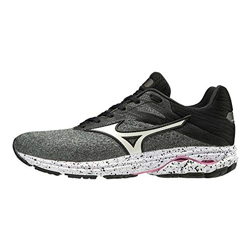 Mizuno Wave Rider 23, Zapatillas de Running para Mujer, Gris (GlacierGray/White/Black 72), 39 EU