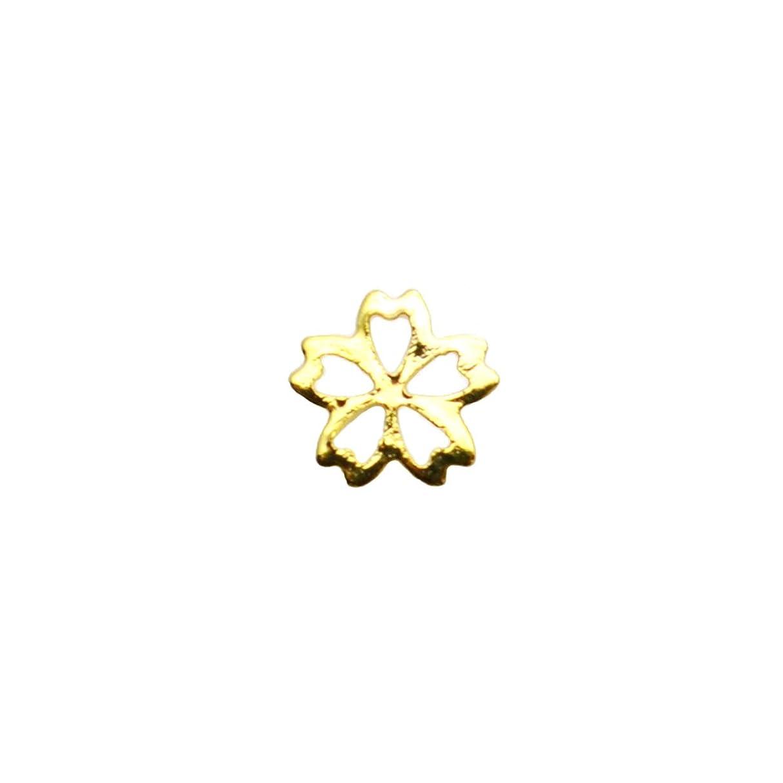 投資つらい担当者桜フレームパーツ 4mm ゴールド 花パーツ フラワーパーツ 桜パーツ ジェルネイル セルフネイル 春ネイル