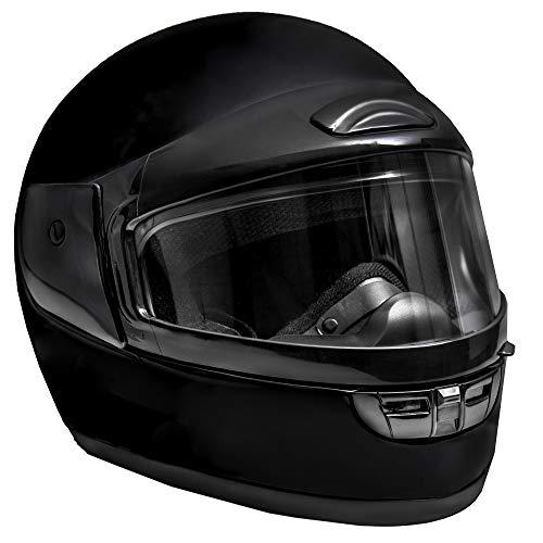 Raider Black Large Youth Snowmobile Helmet