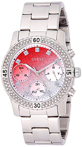 GUESS Confetti dameshorloge 38 mm armband roestvrij staal Zwitsers kwarts W0774L7